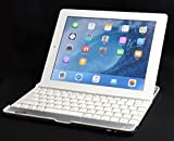 【HAIKAU】 iPad(第4世代Retina、第3世代)/iPad2 兼用 bluetoothキーボード内蔵アルミケース 【USキーボード】 日本語操作説明書付き ホワイト