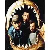 ブロマイド写真★『ジョーズ』鮫の歯と3人/ロイ・シャイダー、ロバート・ショウ、リチャード・ドレイファス