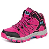 Torisky トレッキングシューズ 登山靴 男女兼用 ウォーキングシューズ 防水 防滑 大きいサイズ (レッド 22.5cm)