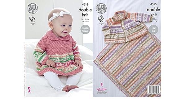 Jumper Sizes 36-56cm Cardigan /& Blanket 4513 King Cole Knitting Pattern