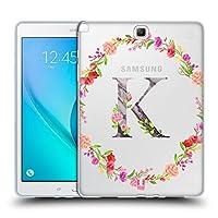Head Case Designs K デコラティブ・イニシャル Samsung Galaxy Tab A 9.7 専用ソフトジェルケース
