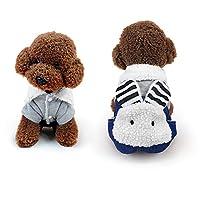 Sunwrld 犬服 秋 冬 服 ウサギの型 可愛い つなぎ ロンパース ドッグウェア 暖かい 防寒 コート ペット用品 コスチューム 小型犬 中型犬 5サイズ選択可能