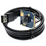 ELP 5メガピクセル工業USB2.0 OV5640カラーCMOSセンサーUSBカメラモジュール Linux / Android / Mac / Windows PC Webcam(60度オートフォーカスメガピクセルレンズ)