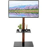 【32-65型推奨】 アイリスプラザ テレビ台 壁寄せテレビスタンド 高さ調節可能 棚板付き ハイタイプ スタンドテレビ