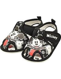 Disney ディズニー ミッキー ミニー ベビー サンダル 歩くと音が鳴る笛付き