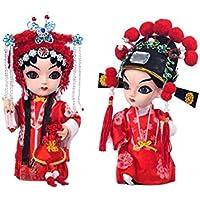 クリエイティブな花嫁と花嫁の手工芸中国北京オペラ人形の装飾