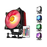 aigo K4 RGB CPUファンクーラー 4ヒートパイプ120mm LED PWM使用 サイレントCPUラジエーター