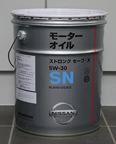 NISSAN 日産純正エンジンオイル SN5W-30 ストロングセーブX  鉱物油 20L缶 KLAN5−05302