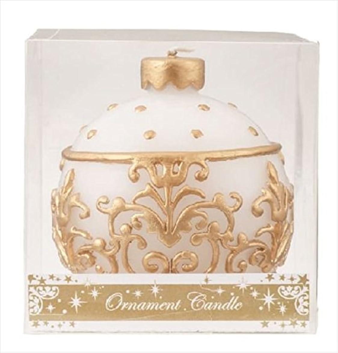 耳説明的尾kameyama candle(カメヤマキャンドル) オーナメントキャンドル 「 ホワイト 」(A4440000W)