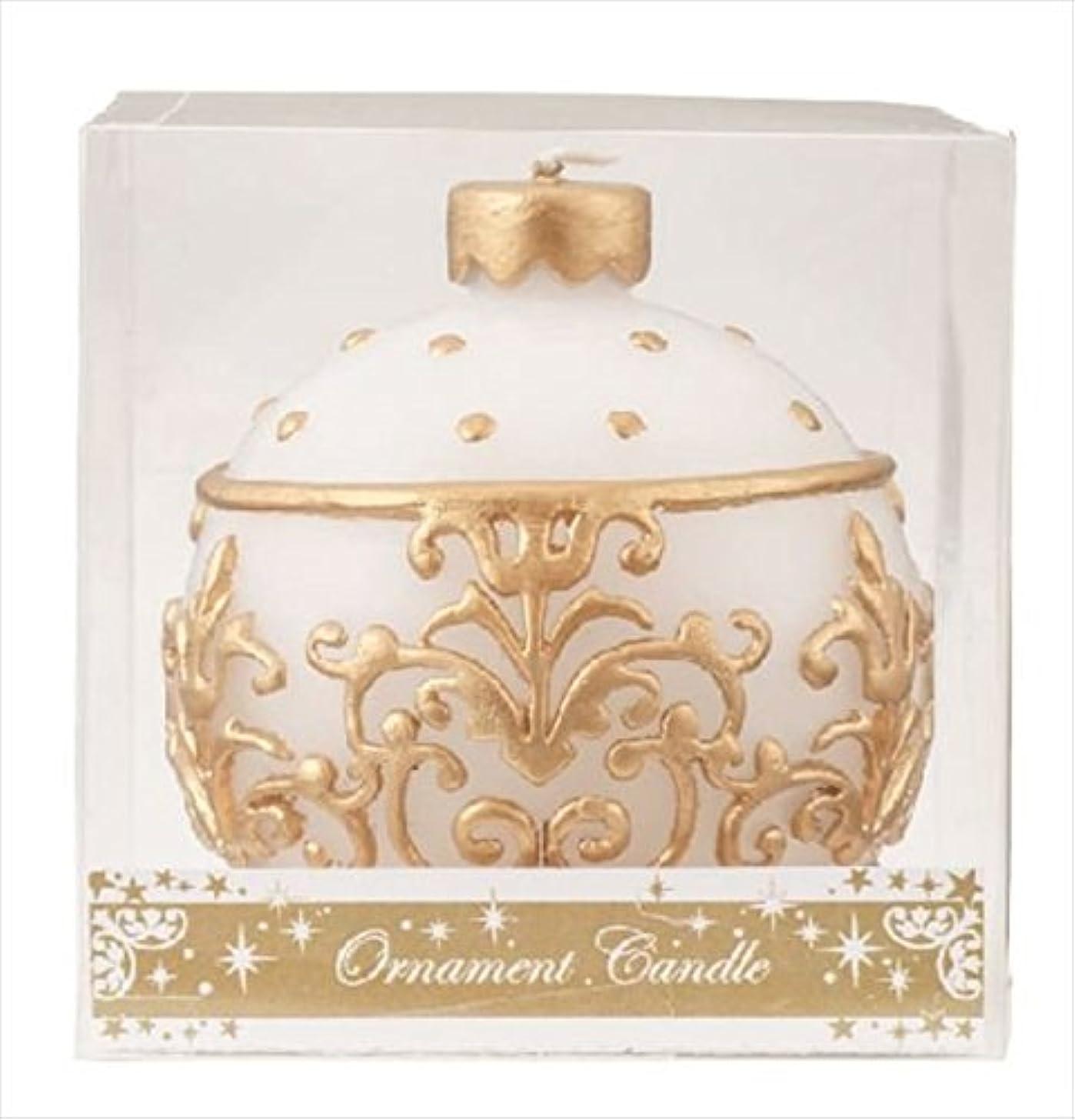 やけど彫刻レーダーkameyama candle(カメヤマキャンドル) オーナメントキャンドル 「 ホワイト 」(A4440000W)
