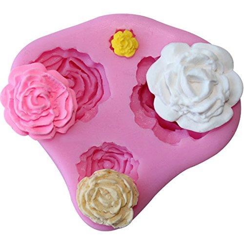 SOEKAVIA ケーキ 型 シリコン モールド ローズ バラ 薔薇 手作り石鹸 キャンドル 製菓道具 チョコレート 樹脂 粘土 型 抜き型