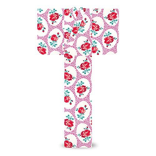 キスミスxmiss レディース 浴衣 薔薇 スクエアドット ピンク7X-9