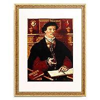 Ring, Hermann tom,1521-1596 「Portrait of Johannes Munstermann. 1547」 額装アート作品