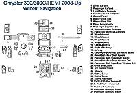 クライスラー300/ 300C / Hemiダッシュトリムキット、without Navigation SKU953-Chrome Mirror Like
