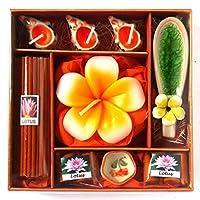 アロマギフトBOX Lサイズ 退職お礼ギフトお返しギフト アロマキャンドルとお香のギフトセット (オレンジ)