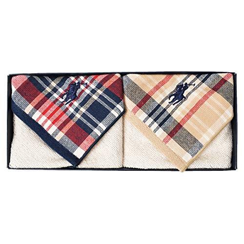 Polo Ralph Lauren ポロ ラルフローレン タオル ハンカチ 2枚組 ギフトセット ギフト ハンカチ ギフトBOX付き ミニタオル (エドガータウンマドラス)