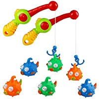 Bath Toys Fishing Games with Rod and Floating Fish 2 sets Enjoy Bathing Fun Time Great Gift for Toddlers Kids Boys Girls over 3 Years OldColor Vary [並行輸入品]