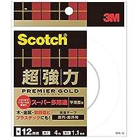 == まとめ == / 3M / スコッチ/超強力両面テープ/プレミアゴールド / == スーパー多用途 == / 12mm×4m / SPS-12 / 1巻 / - ×5セット -