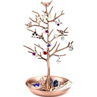 WELL-STRONG Earring Ring Holder Necklace Bird Decoration Jewelry Tower Tree Girl Bronze