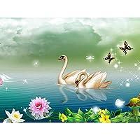 Ueirinda 刺繍キット 5Dダイヤモンドペインティングキット ダイヤモンド塗装 DIY ホームクラフト用壁掛け装飾品 スワン-w620