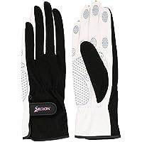 SRIXO|#SRIXON(スリクソン) テニス レディース用 シリコンプリント グローブ (両手セット) SGG2550 ブラック