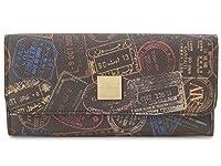 エーエルブイ(ALV) 長財布 WB5021-41-602 パスポートライン モカ・ブラウン イタリア製 リモンタモノグラム [並行輸入品]