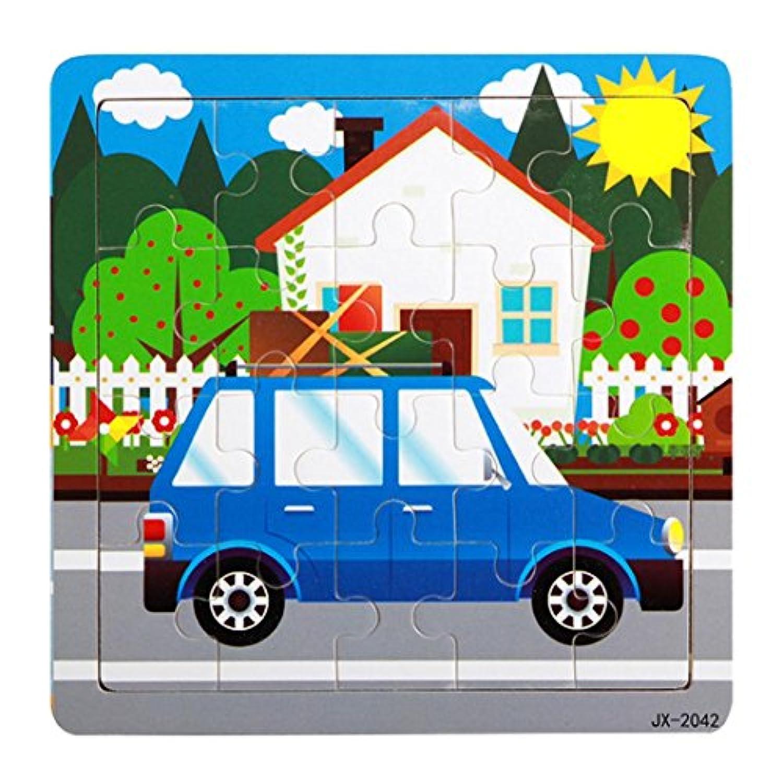 Fineser ( TM ) Preschool Learningおもちゃ、おもちゃ木製パズル教育Developmentalベビーキッズトレーニング機能: (スタイルF )