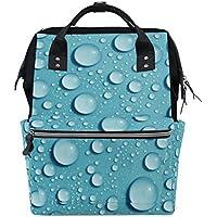 ママバッグ マザーズバッグ リュックサック ハンドバッグ 旅行用 落としてる水 青い背景 ファション