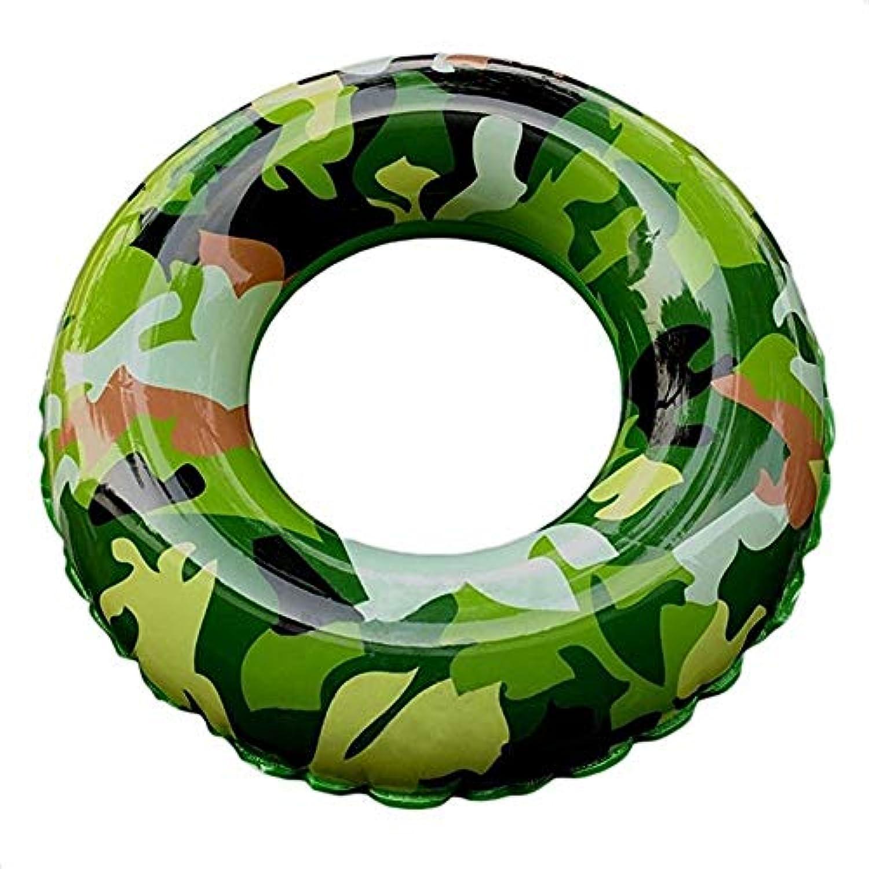 クラシック 男女兼用 浮き輪 レディース夏浮輪 水インフレータブル迷彩水泳リング夏ポータブルスイミングプールビーチフローティングプールの装飾大人子供カップルアーミーグリーン(2つのオプション) 可愛い浮輪 海水浴 プール 水遊び 海フロート