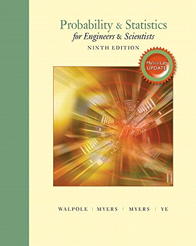 Download Probability & Statistics for Engineers & Scientists, MyLab Statistics Update (9th Edition) 0134115856
