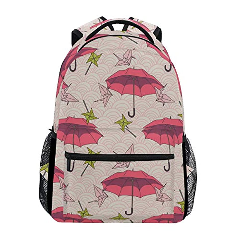 ヨーグルト硫黄こどもセンターGORIRA(ゴリラ)リュックサック 高校生 可愛い 大容量 キッズ 通学 和傘 図案 和柄 リュック レディース おしゃれ 大人 防水 キャンバス 男女兼用 旅行バッグパック