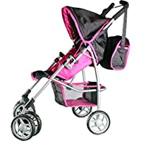 Mommy & Me Doll Stroller Swiveling Wheels with Free Carriage Bag 9351A