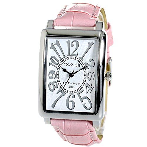 フランク三浦 インターネッツ別注 新初号機-SVPK メンズ 腕時計 ホワイト/ピンク FM01IT-SVPK