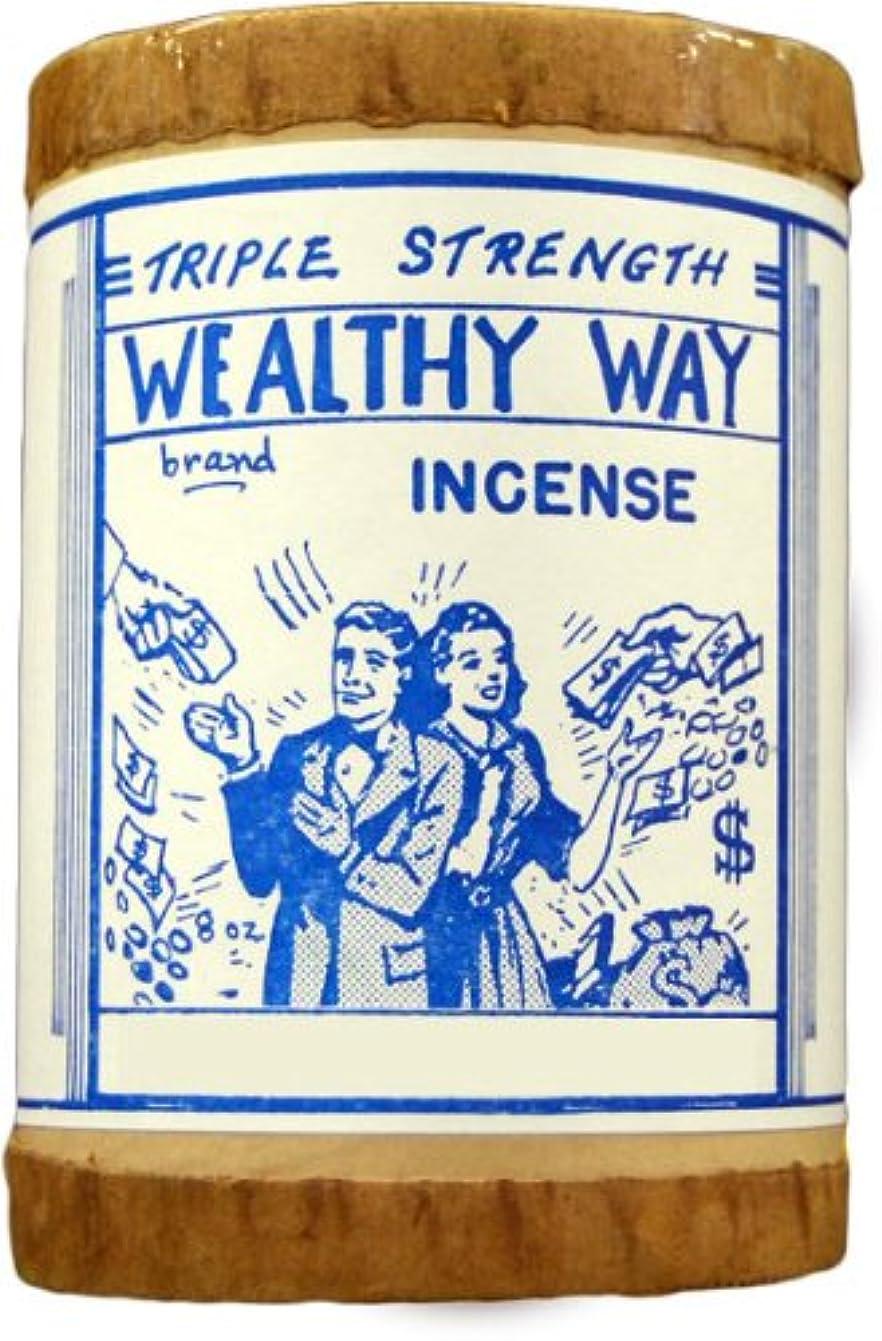 雰囲気飛行場ナビゲーション高品質Triple Strength Wealthy Way Powdered Voodoo Incense 16オンス