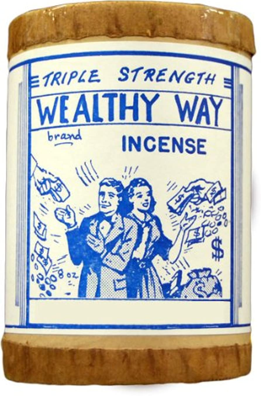 とげのある改善する構成員高品質Triple Strength Wealthy Way Powdered Voodoo Incense 16オンス