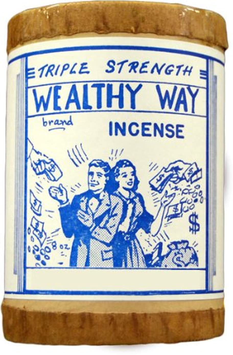 アンプ三角不規則性高品質Triple Strength Wealthy Way Powdered Voodoo Incense 16オンス