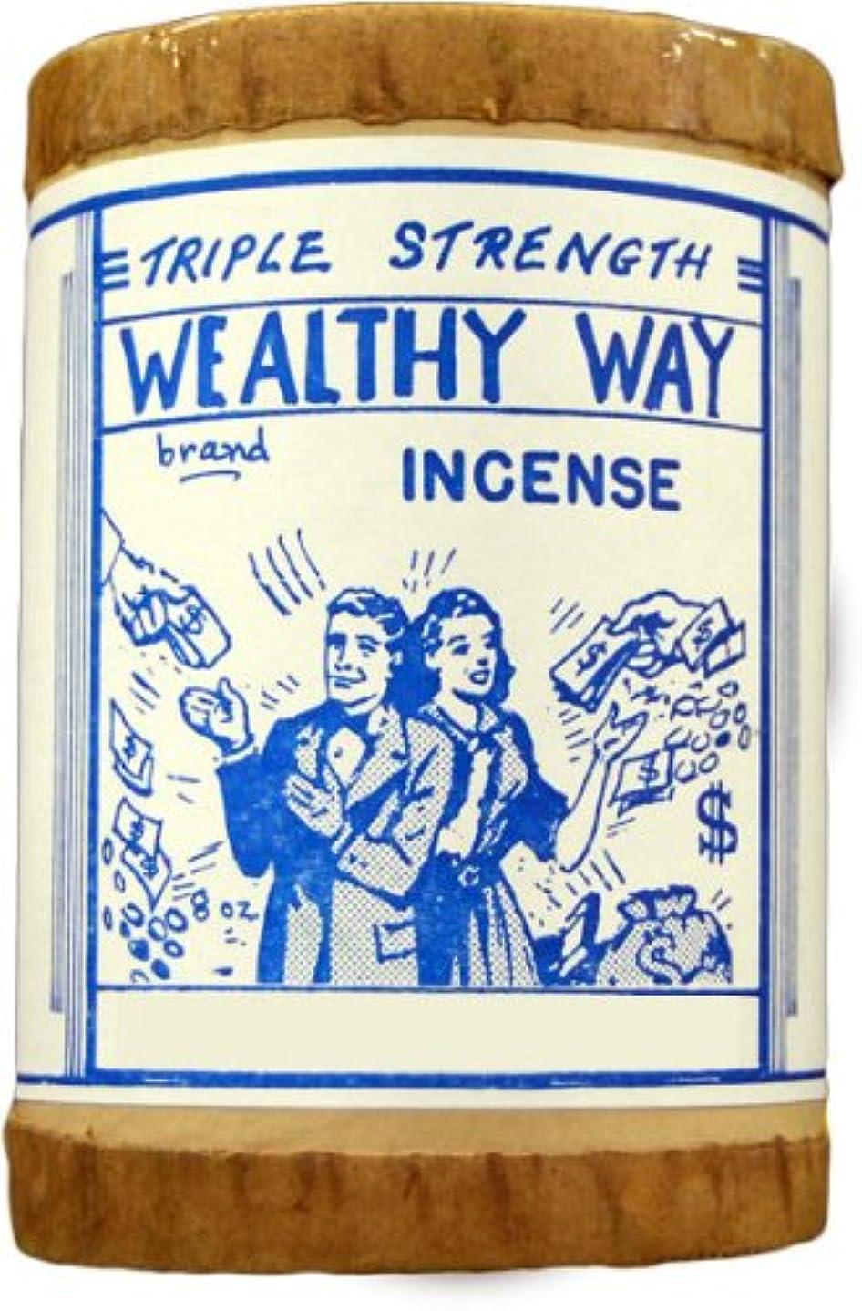 マンモスかなりの眩惑する高品質Triple Strength Wealthy Way Powdered Voodoo Incense 16オンス