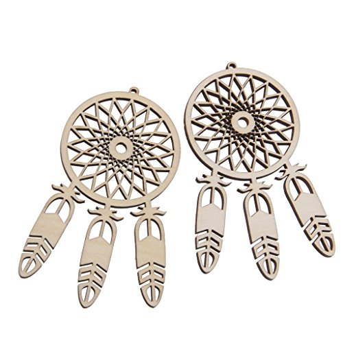 D DOLITY 30 Pieces Indians Alloy Wood Dream Catcher DIY Making Pendant Home Decor