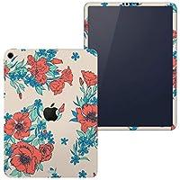 igsticker iPad Pro 12.9 inch インチ 専用 apple アップル アイパッド 2018 第3世代 A1876 A1895 A1983 A2014 全面スキンシール フル 背面 側面 正面 液晶 タブレットケース ステッカー タブレット 保護シール 人気 花 植物 赤 012171