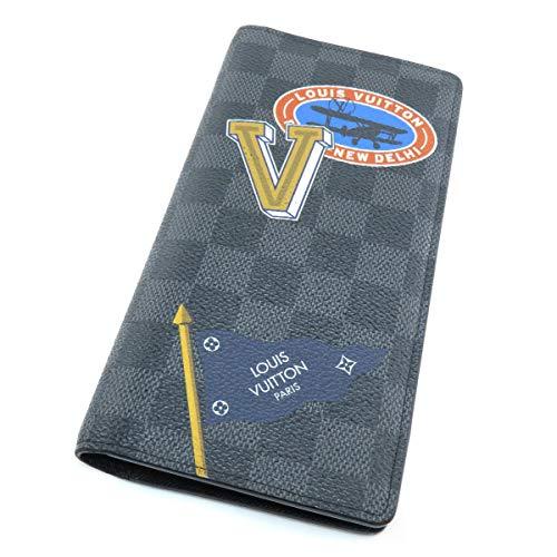 [ルイヴィトン]ブラザ LVリーグ ステッカープリント 長財布(小銭入れあり) ダミエキャンバス メンズ (中古)