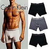 [カルバンクライン] Calvin Klein ボクサーパンツ 3枚セット ブラック×2、グレー×1 (M, Aタイプ) [並行輸入品]