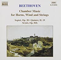 Beethoven: Chamber Works for Horns, Wind and Strings. (Septet in E flat. etc). (1995-05-17)