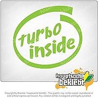 内部のターボ Turbo inside 11cm x 10cm 15色 - ネオン+クロム! ステッカービニールオートバイ
