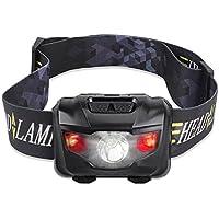 Street Cat LEDヘッドランプ アウトドアヘッドライト 160ルーメン 5点灯モード IPX4防水 角度調節可能 乾電池式 軽量 ハイキング/夜釣り/アウトドア作業/自転車/キャンプ/登山/防災に最適