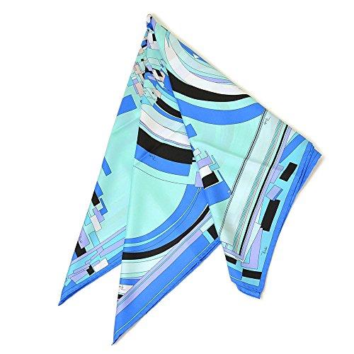 (エミリオ・プッチ)EMILIO PUCCI 大判シルクスカーフ/プッチ柄 eep005【8J643-3:ブルー】レディース