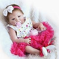 Pursue赤ちゃんリアルな新生児ベビーガール人形解剖学的に正しい、22インチハードビニールフルボディLifelike Poseableベビー人形withおしゃぶり