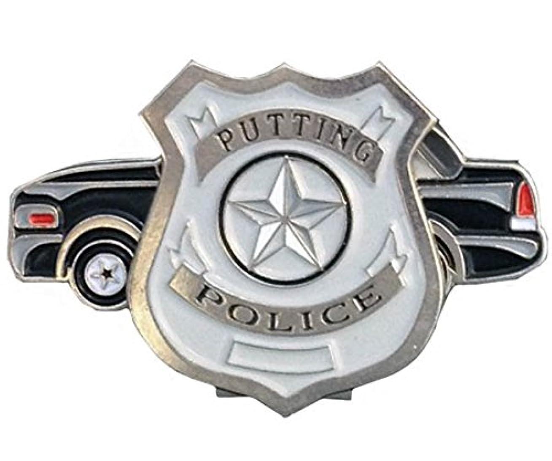 何もない私たちのもの不条理Giggle Golf Putting Police バッジ ボールマーカー パトカー 帽子用クリップ