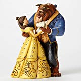 """Disney Traditions by Jim Shore 25th Anniversary Belle and Beast Ballroom Stone Resin Figurine, 9"""""""