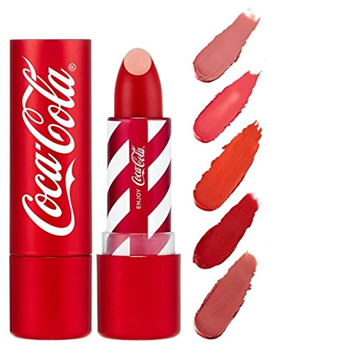 パイプラインモチーフローストコカ?コーラ×THE FACE SHOP リップスティック ~ コカ?コーラ公式グッズ 04 COKE RED