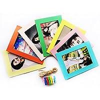 カラーフルフォトフレーム おしゃれ パーティー壁飾り インテリア 7インチ写真立て 7枚セット (Cデザイン)